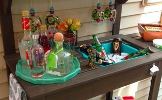 outdoor furniture bar decor budget, outdoor living, repurposing upcycling
