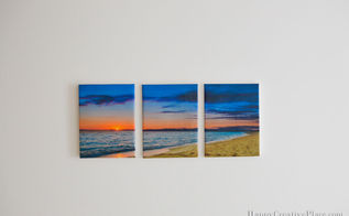 diy panoramic canvas art, crafts, home decor, wall decor