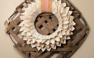 craft wreath hymnal page decor, crafts, repurposing upcycling, wreaths