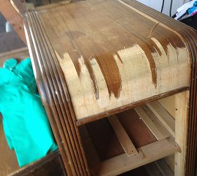 Staining a Wooden  Vanity Table Back to Life  Hometalk