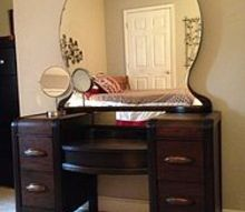 staining wood vanity vintage renew, painted furniture, Finished
