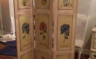 wall art repurpose floor screen painted, chalk paint, home decor, repurposing upcycling