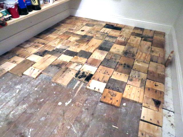 pallet floors redo flooring, diy, flooring, hardwood floors, pallet,  repurposing upcycling - Redoing A Floor With Free Pallet Wood Hometalk