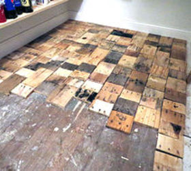 My DIY Refinished Hardwood Floors Are Finished Source · Redoing A Floor  With Free Pallet Wood Hometalk