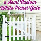 woodworking picket fence white build, diy, fences, woodworking projects