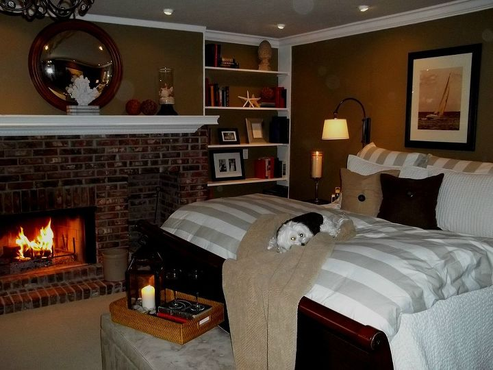 Painting Fireplace White Brick Before After Bedroom Ideas Concrete Masonry Home Decor