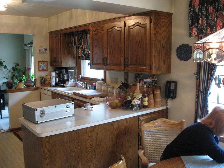 Kitchen bath remodel hometalk for Redo old kitchen cabinets