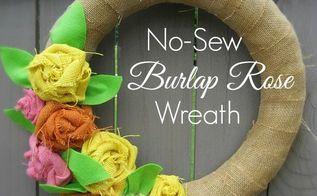 crafts burlap wreath no sew rose, crafts, wreaths