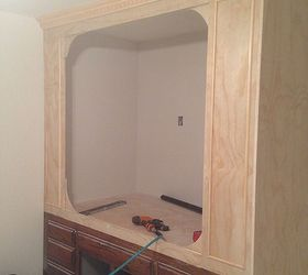 Old Kitchen Cabinets Into BuiltIn BedHometalk