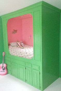 built in bed repurpose kitchen cabinets, bedroom ideas, diy, painted furniture, repurposing upcycling, storage ideas, woodworking projects
