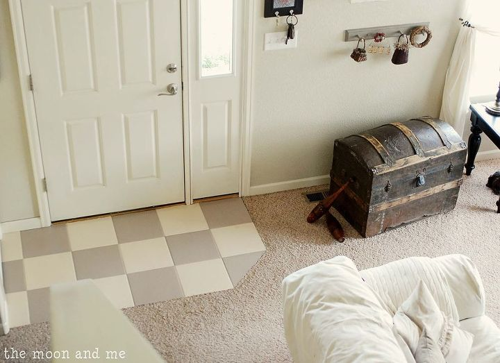 Painting a ceramic tile floor hometalk for Painting vinyl floors with chalk paint