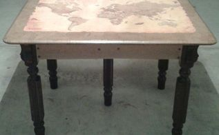 rescue of a very sad old table, painted furniture