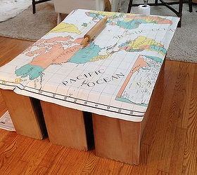 Painted Furniture Dresser Map Redo, Painted Furniture
