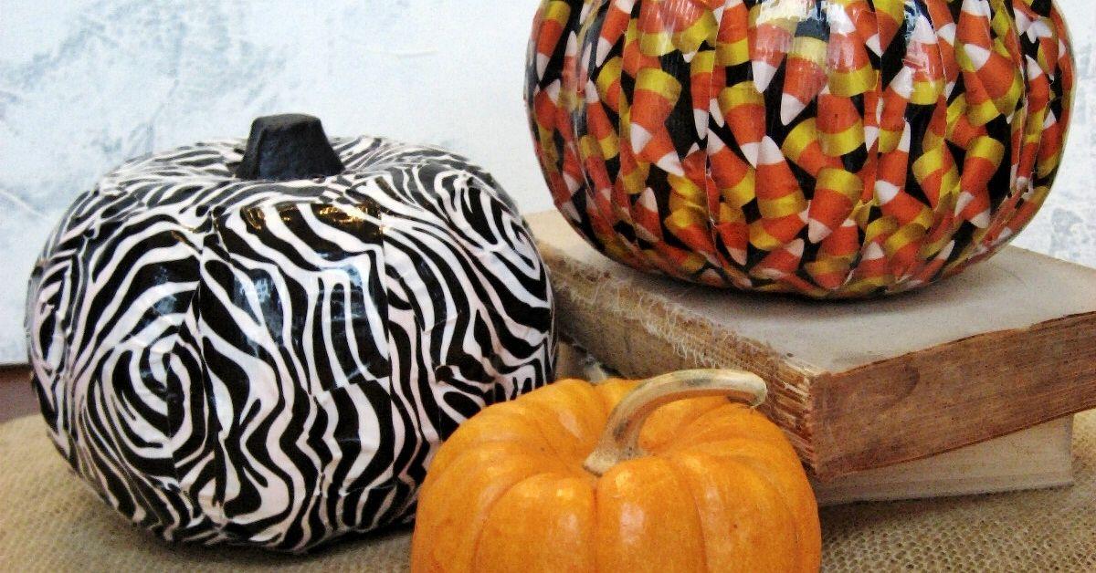 Halloween Fun Easy Duct Tape Pumpkins Hometalk