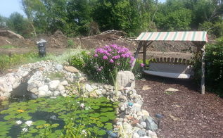 peaceful yard to read or just enjoy the outdoors, landscape, outdoor living, ponds water features