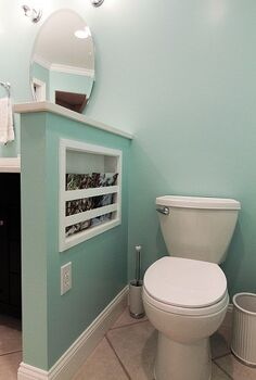 16 surprising storage ideas, cleaning tips, craft rooms, storage ideas, Bathroom Storage via Hamtil Construction