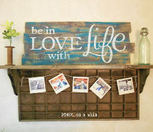 pallet sign art wood love life, crafts, home decor, pallet, repurposing upcycling, wall decor
