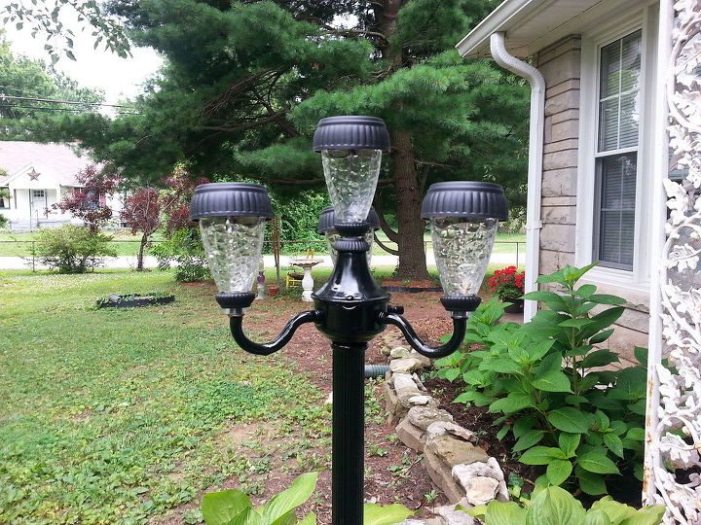 patio ideas repurposed lamps solar lights lighting outdoor living patio - Patio Solar Lighting Ideas
