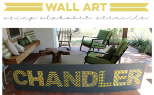 learn how to stencil wall art using alphabet stencils, crafts, how to, painting