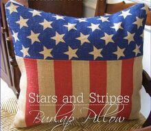 diy pillow pottery barn stars stripes, crafts, patriotic decor ideas