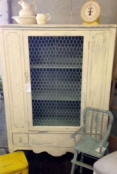chalk paint crackle cabinet country, chalk paint, painted furniture