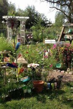 garden ideas summer art, gardening, repurposing upcycling