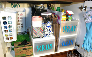 tips for organizing under the kitchen sink, kitchen cabinets, kitchen design, organizing