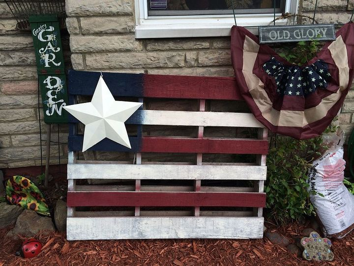 American flag pallet art hometalk for American flag decoration ideas
