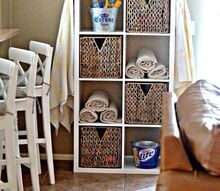 storage ikea kallax shelving, painted furniture, shelving ideas