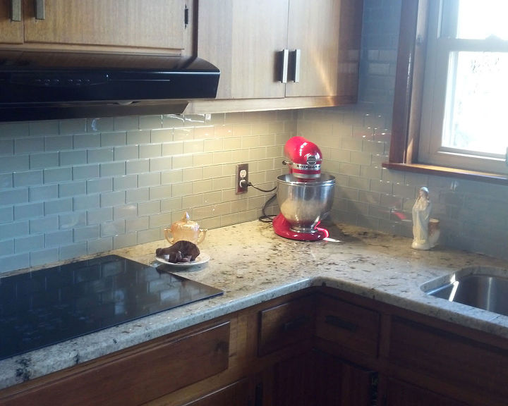 Glass Subway Tile Kitchen Backsplash Idea | Hometalk
