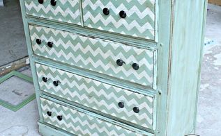 painted furniture dresser chevron, chalk paint, painted furniture