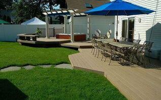 backyard ideas budget friendly inspiration, decks, outdoor living, patio, spas, Multi Level Trex Deck