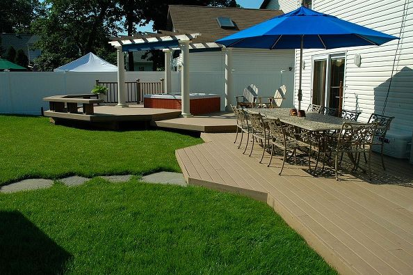 backyard ideas budget friendly inspiration decks outdoor living patio spas multi - Spa Patio Ideas