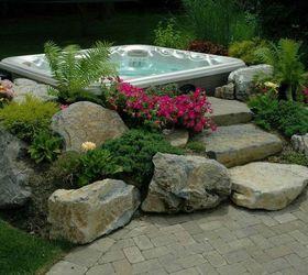 Hot Tub In Backyard Ideas Landscaping Hot Tub Pictures Custom Backyard Ideas  Budget Friendly Inspiration Decks