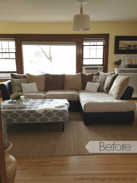 Photo By Brooke Bundy How To Re Cover A Microfiber Sectional
