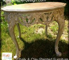 painted furniture accent table refinish glaze, chalk paint, how to, painted furniture, shabby chic