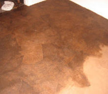 floors brown paper bag, diy, flooring, repurposing upcycling, Applying a rich stain