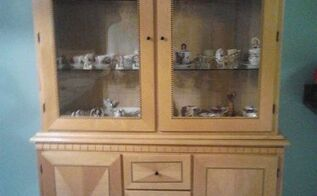dining room hutch rebuild from flooding, painted furniture, Finished and delivered to client