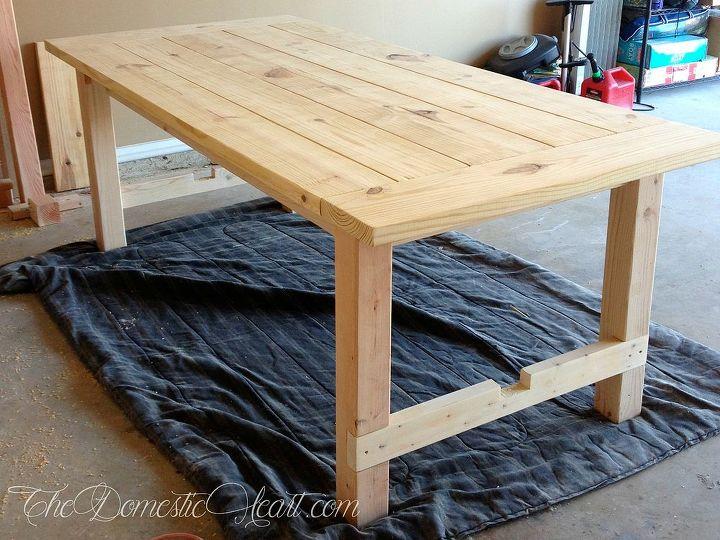 $100 Farmhouse Dining Table - #DoableDIY