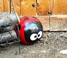 upcycled bowling ball yard art, crafts, gardening, repurposing upcycling