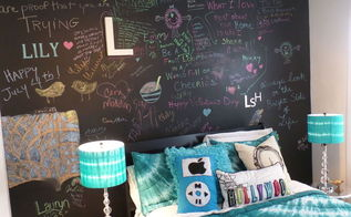 creating a chalkboard feature wall for your teen s room, bedroom ideas, chalkboard paint, painting, wall decor, Updated Chalkboard Feature Wall for Teen Girl