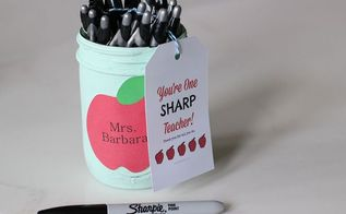 mason jar back to school craft, crafts, mason jars, repurposing upcycling