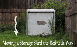how to move storage shed backyard, diy, how to, outdoor living