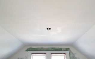 how to popcorn ceiling removal, diy, home maintenance repairs, how to, wall decor, Repaired drywall ready for priming