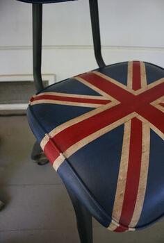 chalk paint chair union jack vinyl, chalk paint, painted furniture
