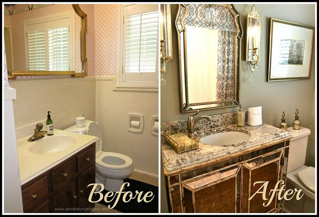 how to redo a small bathroom. Small Hall Bathroom Decorating Ideas small bathroom glam redo  hometalk Simple 20 Design Decoration