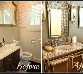Great Small Bath Remodels Elegant Glamour, Bathroom Ideas, Small Bathroom Ideas