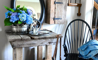 pallet table foyer repurpose eclectic, foyer, pallet, rustic furniture, woodworking projects
