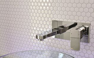 tiling cheat amazing tiling effects using self adhesive wall tiles, kitchen backsplash, kitchen design, tiling, wall decor