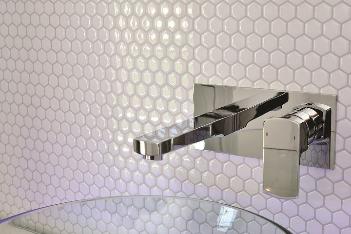 tiling cheat amazing tiling effects using self adhesive wall tiles, kitchen  backsplash, kitchen design - Peel And Stick Backsplash - Mosaic, Metallic + Glass Tile
